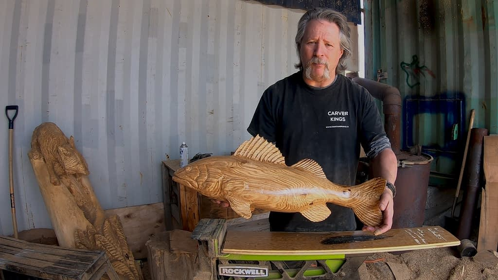 walleye fish carving