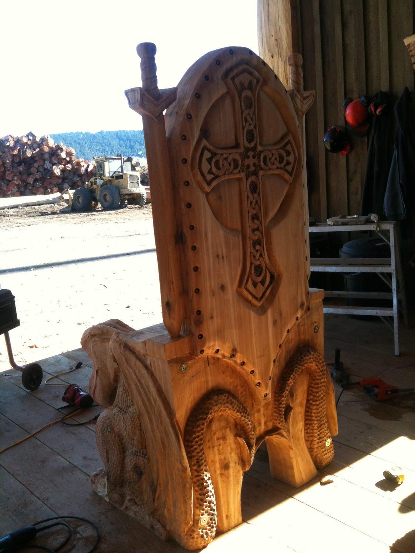 Throne, Chair, Carver Kings