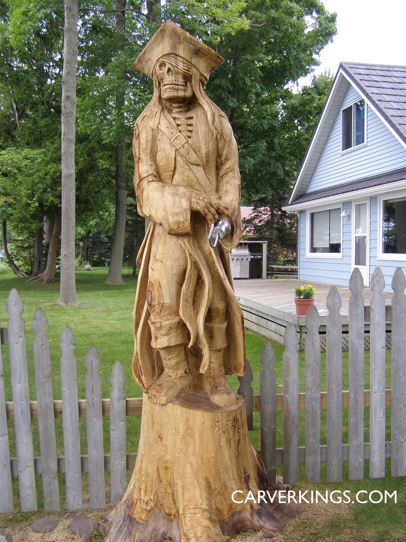 Carving, Pirate, Skeleton