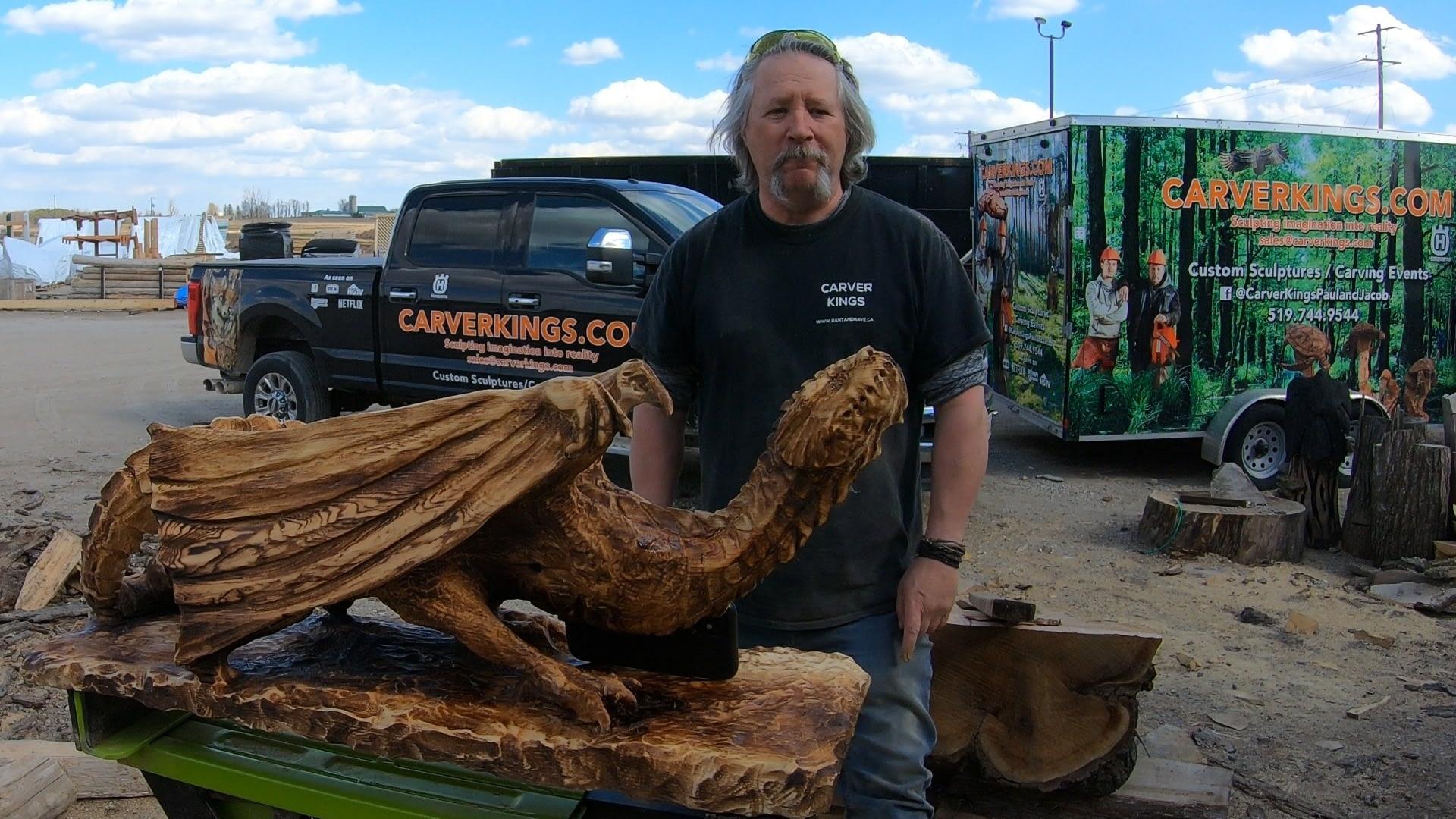 dragon wyvern sculpture