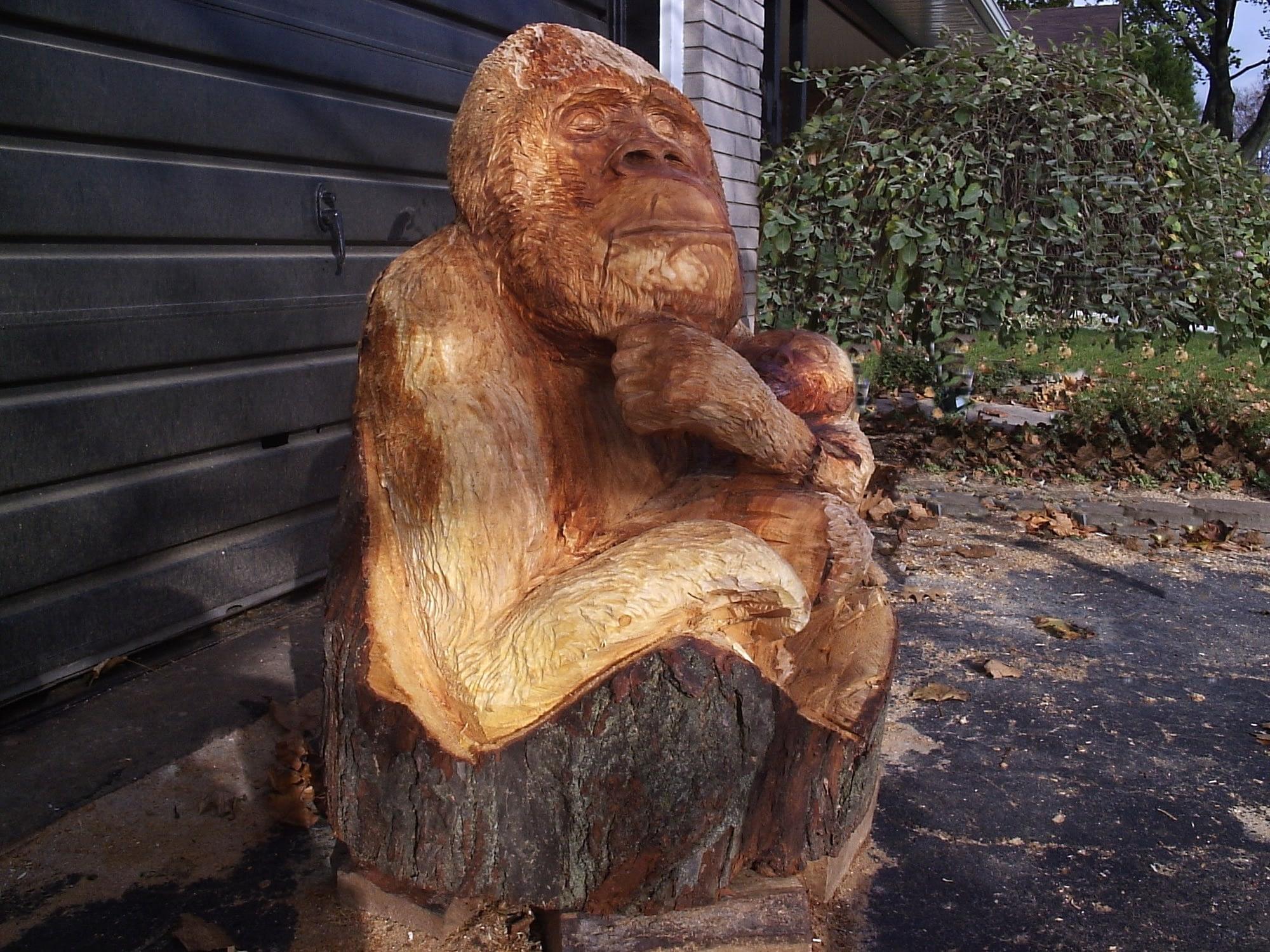 Carving, Monkey, Gorilla