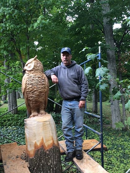 Carving, Bird, Owl