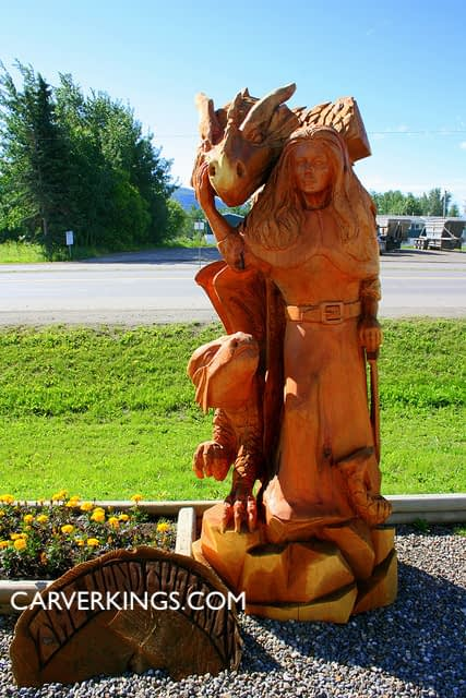 Carving, Girl, Totems
