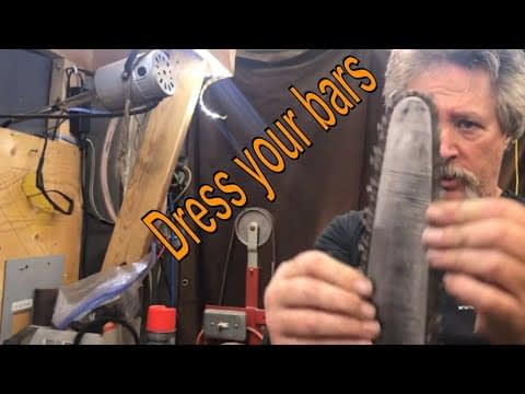 chainsaw bar repair dressing