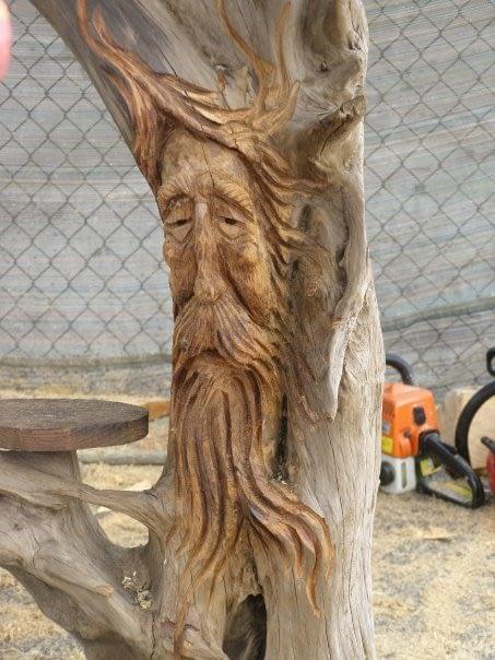Carving, Spirit Face, Face